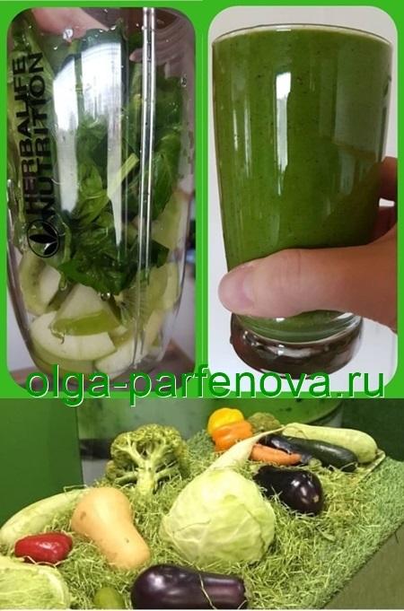 зеленый коктейль состав