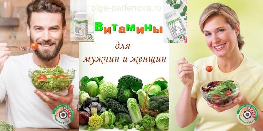 Роль витаминов для мужского и женского организма